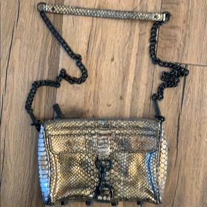 Rebecca Minkoff Gold snake  cross body handbag